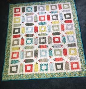 Geometric quilt front