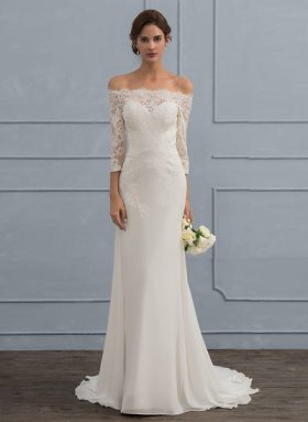 Off the Shoulder Wedding Dress (Under $100)