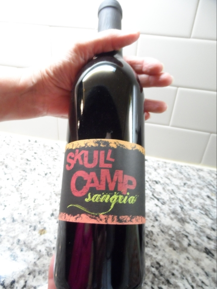 Bottle of Skull Camp Sangria