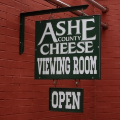 Ashe County Cheese Viewing Room Sign