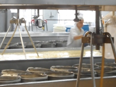Ashe County Cheese Plant - One of the stages of cheese being made