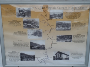 Virginia Creeper History Map in Ashe County