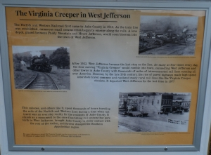 The Virgina Creeper History Facts in West Jefferson NC