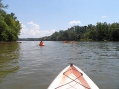 Kayaking the Catawba - Open Water
