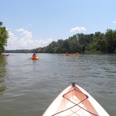 Kayaking the Catawba - Open Water