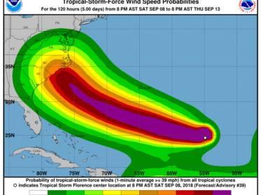 map of hurricane