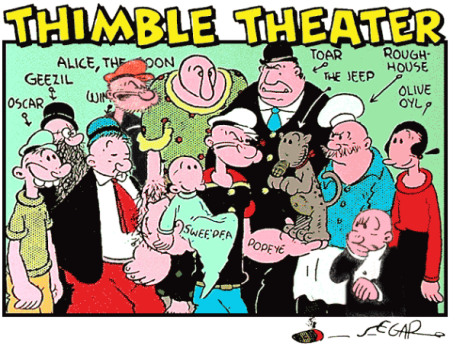 Thimble Theater - Popeye Characters
