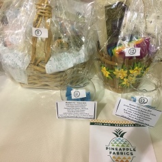 Raffle Baskets from Pineapple Fabrics