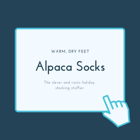 Alpaca Socks for warm, dry feet