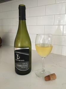 jones von drehle barrel chardonnay bottle & glass