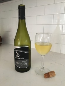 jones von drehle barrel chardonnay bottle & glass
