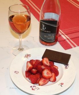 jones von drehle Dulcimer wine with strawberries
