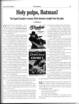 Holy pulps, Batman! by Will Murray