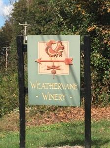 Weathervane Winery Sign